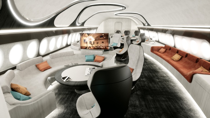ACJ Harmony cabin concept - Lounge overview