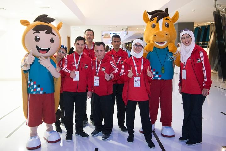 Team Jordan arriving at the Special  Olympics MENA Games 2018.jpg